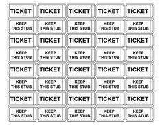 pre printed raffle tickets